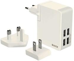 OPLADER WAND LEITZ COMPLETE USB 4PLUGS 24WATT WIT 1 STUK