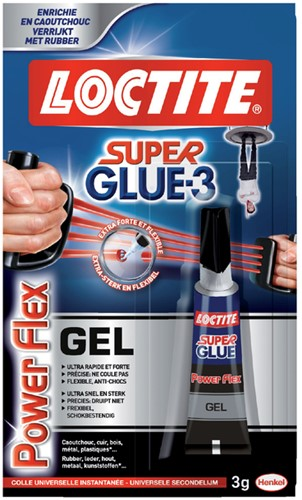 SECONDELIJM LOCTITE POWERFLEX GEL 3GR 1 Stuk