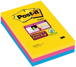 MEMOBLOK 3M POST-IT 4960 SUPER STICKY 101X152MM RIO 3 STUK