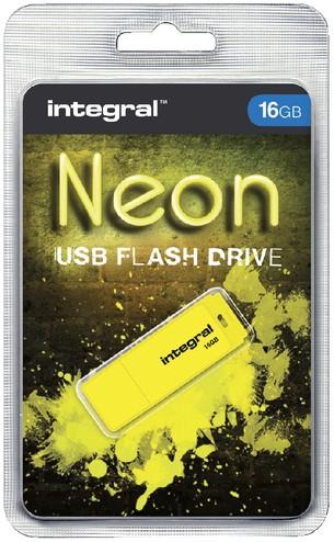 USB-STICK INTEGRAL FD 16GB NEON GEEL 1 Stuk