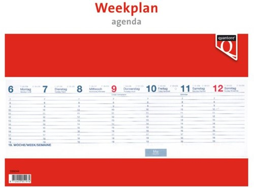 WEEKPLANAGENDA 2020 QUANTORE 1 STUK