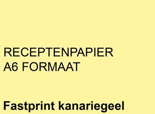 RECEPTPAPIER FASTPRINT A6 80GR KANARIEGEEL 2000 VEL