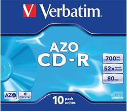CD-R VERBATIM 700MB 52X 10PK JC 1 STUK