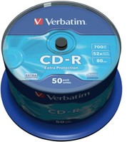 CD-R VERBATIM 700MB 52X 50PK SPINDEL 50 STUK-2