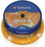 DVD-R VERBATIM 4.7GB 16X 25PK SPINDEL 25 STUK-2