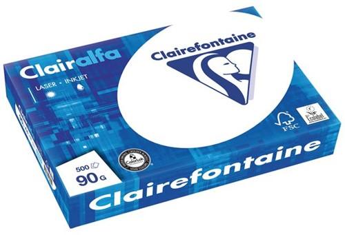 KOPIEERPAPIER CLAIREFONTAINE CLAIRALFA A4 90GR WT 500 VEL