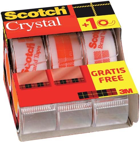 PLAKBAND 3M SCOTCH CRYSTAL 19MMX7.5M 2+1 GRATIS 3 Stuk