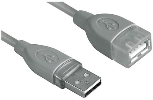 KABEL HAMA USB 2.0 A-A VERLENG 3M GRIJS 1 STUK