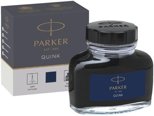 VULPENINKT PARKER QUINK 57ML PERMANENT BLAUW/ZWART 57 Milliliter