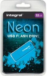 USB-STICK INTEGRAL FD 32GB NEON BLAUW 1 STUK
