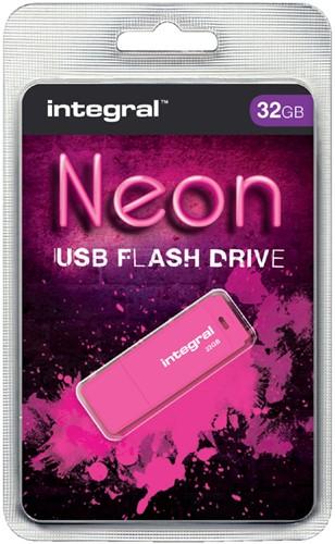 USB-STICK INTEGRAL FD 32GB NEON ROZE 1 Stuk