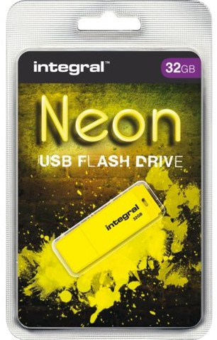 USB-STICK INTEGRAL FD 32GB NEON GEEL 1 STUK