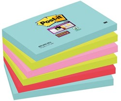 MEMOBLOK 3M POST-IT 655 SUPER STICKY 76X127MM MIAMI 6 STUK