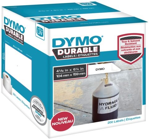 LABEL ETIKET DYMO DURABLE 19330 159MMX104MM WIT 1 ROL