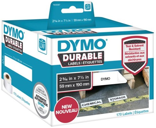 LABEL ETIKET DYMO DURABLE 19330 190MMX59MM WIT 1 ROL