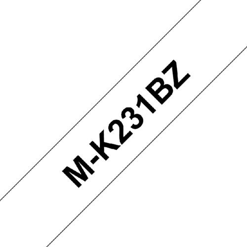 LABELTAPE BROTHER MK-231BZ 12MMX8M ZWART/WIT 1 Stuk