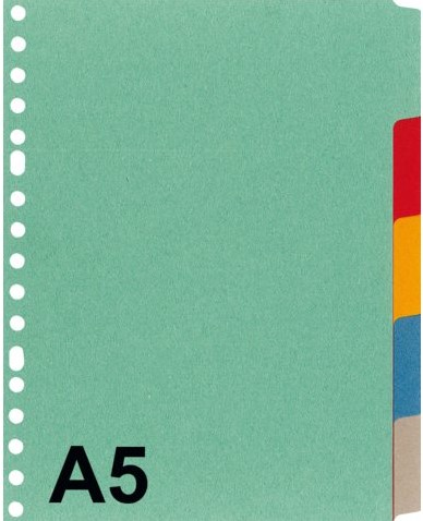 TABBLAD KANGARO P505M A5 17R BLANCO 5DLG KARTON 1 SET