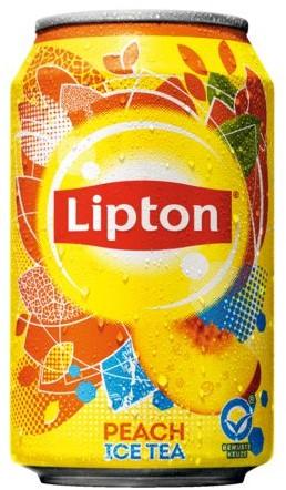 FRISDRANK LIPTON ICE TEA PEACH BLIKJE 0.33L 33 CL