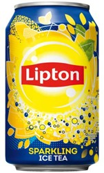 FRISDRANK LIPTON ICE TEA SPARKLING BLIKJE 0.33L 33 CL