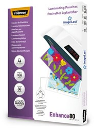 LAMINEERHOES FELLOWES A4 2X80MICRON 100 STUK