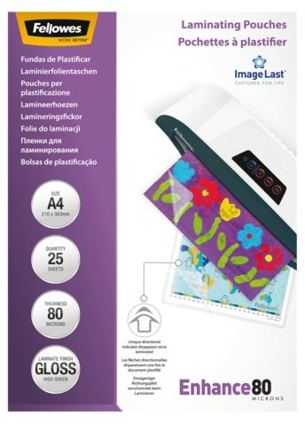 LAMINEERHOES FELLOWES A4 2X80MICRON 25 STUK
