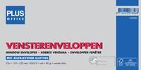 ENVELOP PLUS OFFICE VENSTER VL EA5/6 110X220 80GR ZK 25 STUK