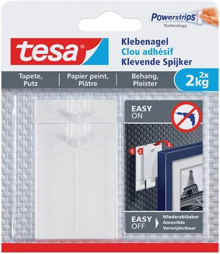 KLEVENDE SPIJKER TESA VOOR BEHANG EN PLEISTERWERK 2KG 2 Stuk