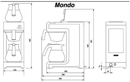 KOFFIEZETAPPARAAT BRAVILOR MONDO + 2 GLAZEN KANNEN 1 STUK-3
