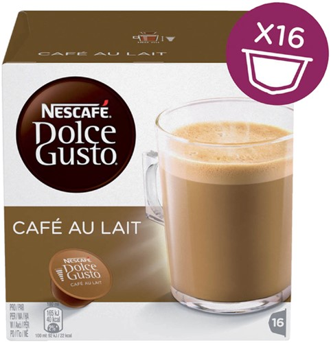 DOLCE GUSTO CAFE AU LAIT 16 CUPS 16