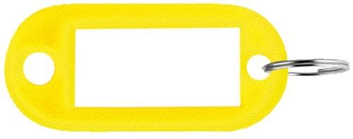 SLEUTELLABEL PAVO PLASTIC GEEL 100 STUK