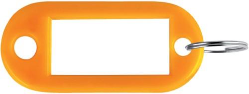 SLEUTELLABEL PAVO PLASTIC ORANJE 100 Stuk