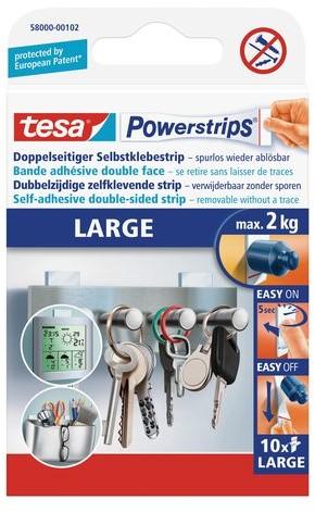 POWERSTRIP TESA LARGE 10 Stuk