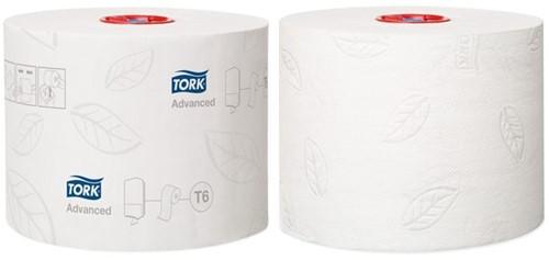 TOILETPAPIER TORK T6 MID-SIZE 2LAAGS ADVANCED 27 ROL 127530 27 ROL