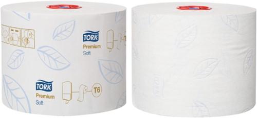 TOILETPAPIER TORK T6 MID-SIZE 2LAAGS PREMIUM 27 ROL 127520 27 ROL