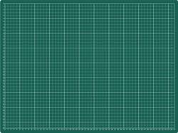 SNIJMAT RILLSTAB 450X600MM A2 3-LAAGS GROEN 1 STUK