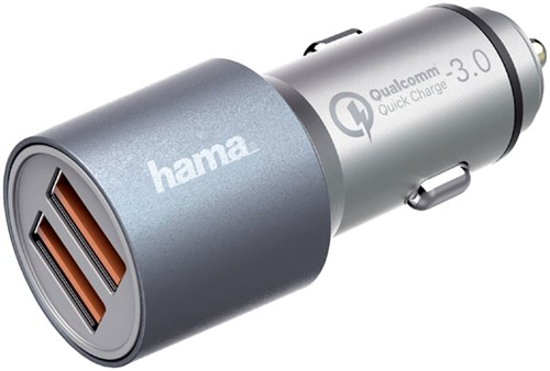 AUTOLADER HAMA USB-A 2X 4.8A SNEL GRIJS 1 Stuk