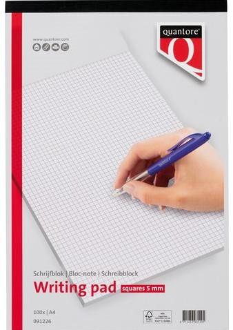 SCHRIJFBLOK QUANTORE A4 RUIT 5MM 60GRAM 1 STUK