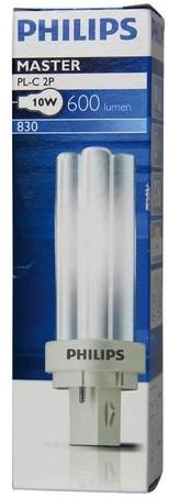 SPAARLAMP PHILIPS MASTER PL-C 10W 830 2P 1 STUK-2