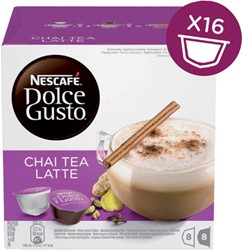 DOLCE GUSTO CHAI TEA LATTE 16 CUPS / 8 DRANKEN 16 CUP