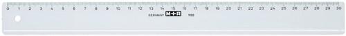 LINIAAL M+R 1130/000 PLASTIC 30CM TRANSPARANT 1 Stuk