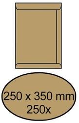 ENVELOP AKTE 250X350MM ZELFKLEVEND 90GR BRUIN 250 STUK