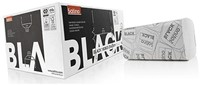 HANDDOEK SATINO BLACK 25X23CM 2-LAAGS ZIGZAG 15 PAK-1