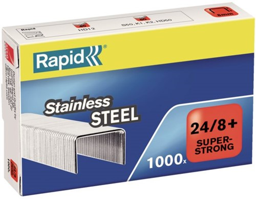 NIETEN RAPID 24/8 RVS SUPER STRONG 1000ST 1000 STUK