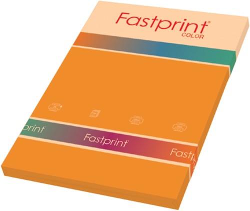 KOPIEERPAPIER FASTPRINT-100 A4 120GR ORANJE 100 VEL