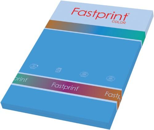 KOPIEERPAPIER FASTPRINT-100 A4 80GR DIEPBLAUW 100 VEL