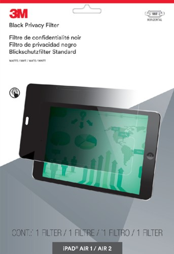 "PRIVACY FILTER 3M IPAD AIR 1/2 LIGGEND 9.7"" 1 STUK"