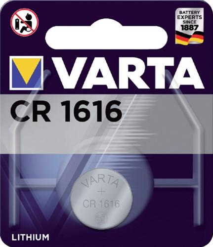 BATTERIJ VARTA CR1616 LITHIUM 1 STUK