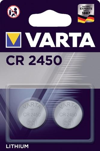 BATTERIJ VARTA CR2450 3V LITHIUM 2 Stuk