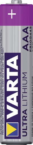 BATTERIJ VARTA AAA PROFESSIONAL LITHIUM 4 STUK-2