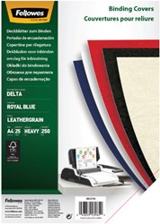 VOORBLAD FELLOWES A4 LEDERLOOK ROYAL BLAUW 25 STUK